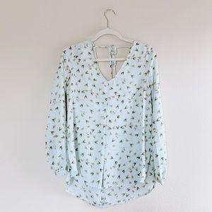 Lauren Conrad Floral Long Sleeve Flowey S